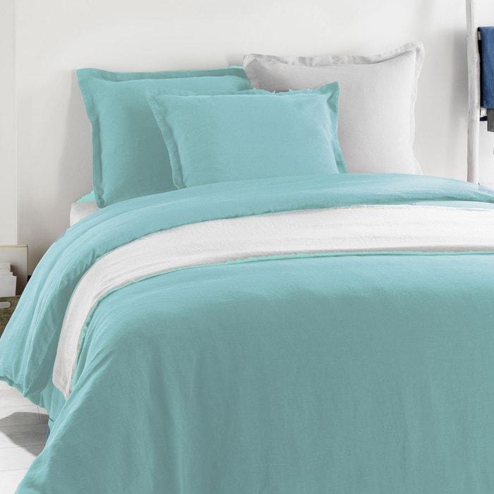drap housse metis lin coton lagon c design home textile la redoute. Black Bedroom Furniture Sets. Home Design Ideas