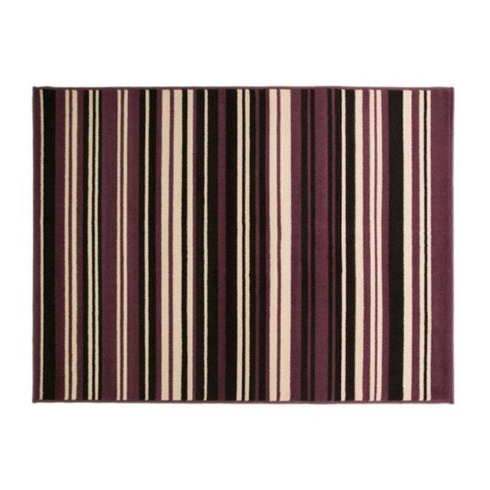 Tapis 100 polypropylene maidstone 160x220 violet et noir violet flair rugs - Tapis violet et noir ...
