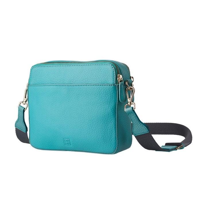 Sac pour femme petit sac en cuir véritable à bandoulière réglable et amovible et double zip turquoise Dudu | La Redoute Footaction Sortie MEyao