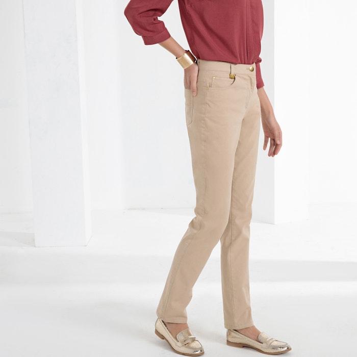 Rechte broek 5-pockets, in stretchkatoen  ANNE WEYBURN image 0