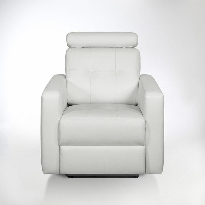 afbeelding Elektrische relaxzetel in leer, Julema La Redoute Interieurs