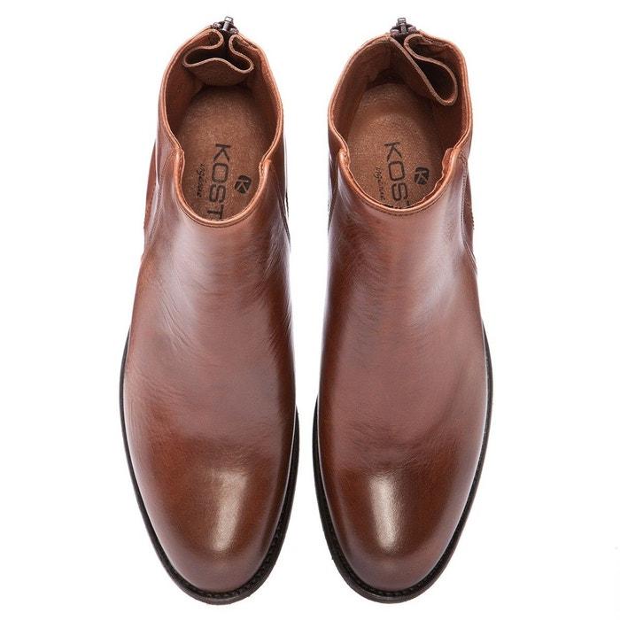 Kudyli boots cuir marron Kost
