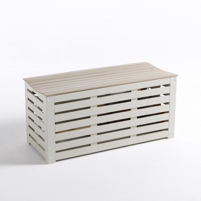 Banc coffre de jardin acacia manta argile la redoute for La redoute meuble jardin