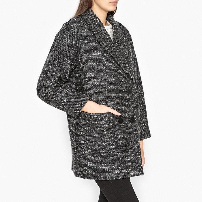 Manteau caban gris