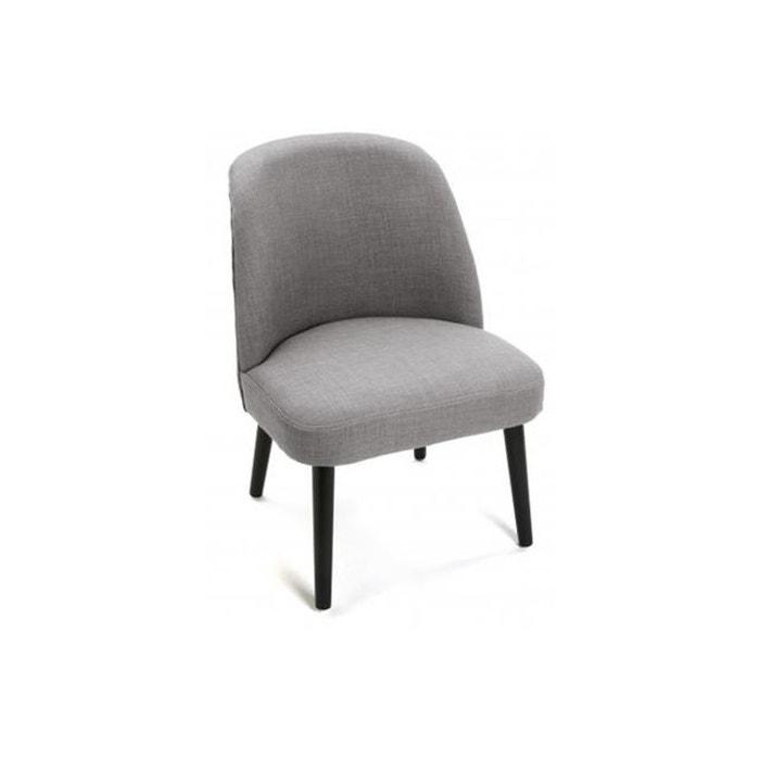 Chaise en tissu scandinave gris clair gabardine gris declikdeco la redoute - Chaise scandinave la redoute ...