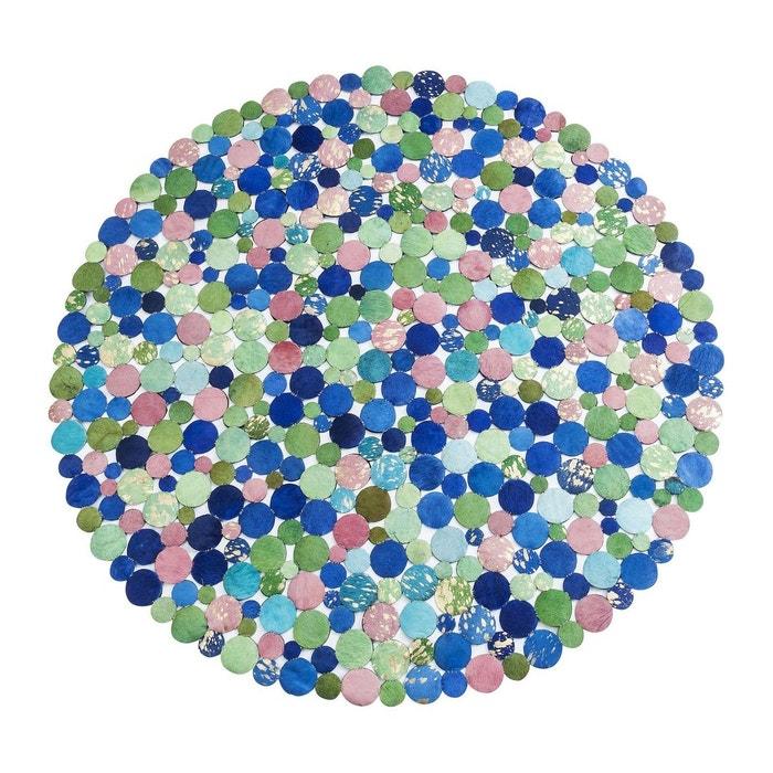 tapis circle spring rond 150cm kare design bleu kare design la redoute. Black Bedroom Furniture Sets. Home Design Ideas