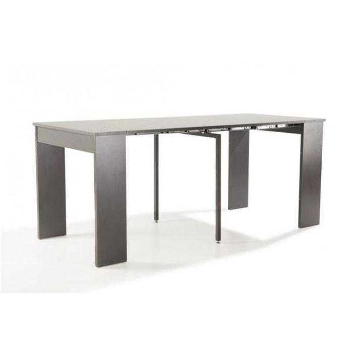 console extensible grise 180cm laqu marie line gris declikdeco la redoute. Black Bedroom Furniture Sets. Home Design Ideas