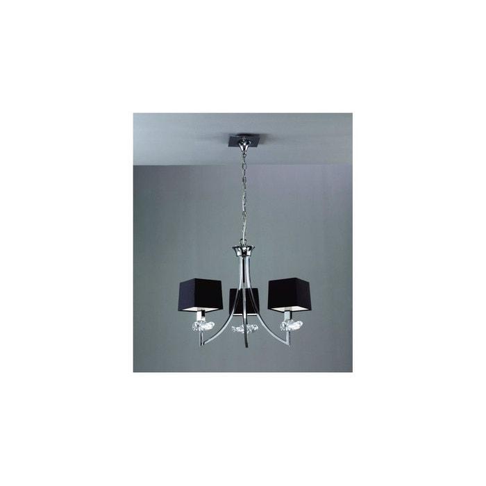 lustre chrome akira 3l mantra mantra la redoute. Black Bedroom Furniture Sets. Home Design Ideas