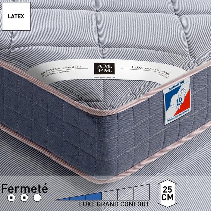 Matelas latex luxe, grand confort, H25 cm, Altagam AM.PM