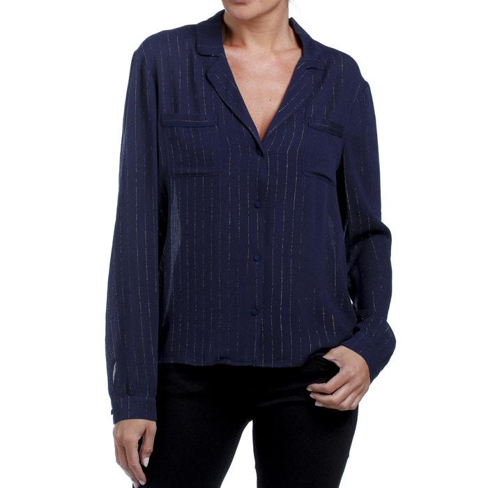 Lurexdraden PyjamakraagDetails Marinegoudkleur Overhemd T Freeman 8Nnw0m