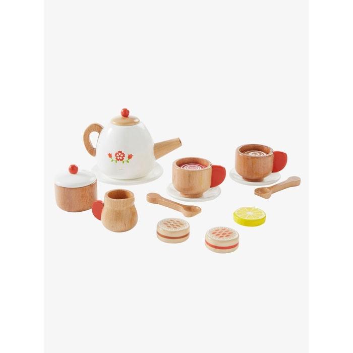 Set th en bois blanc multicolore vertbaudet la redoute for Vertbaudet cuisine bois
