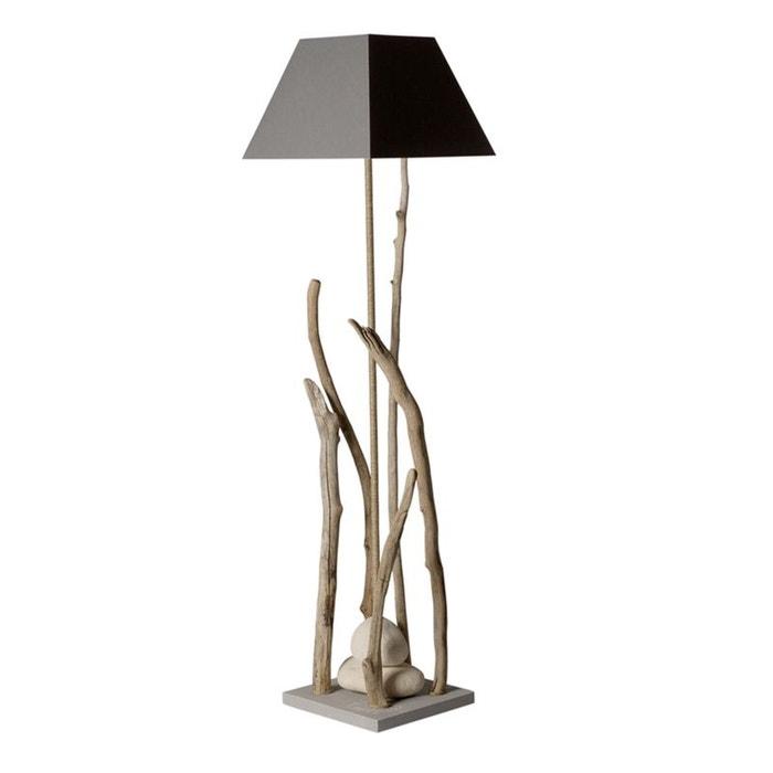 Grande Lampe Sur Pied Bois Flotte Coc Art La Redoute