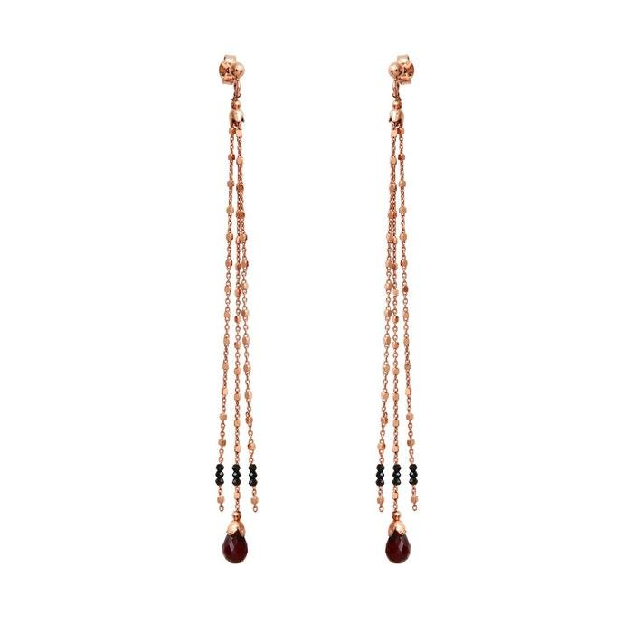 Boucles d'oreilles bijou spinel & grenat or rose Mrs & Mr | La Redoute À Vendre Vente Au Rabais ycMIgE