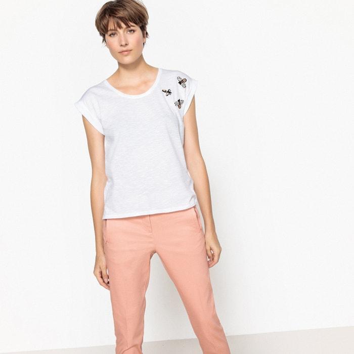 T-shirt, scollo rotondo, maniche corte insetti gioiello  La Redoute Collections image 0