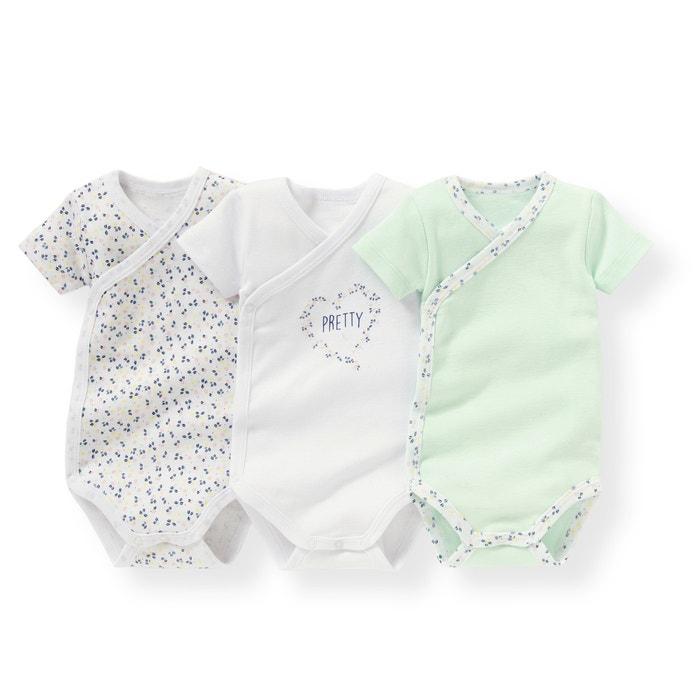 Image Lot de bodies bébé en coton La Redoute Collections