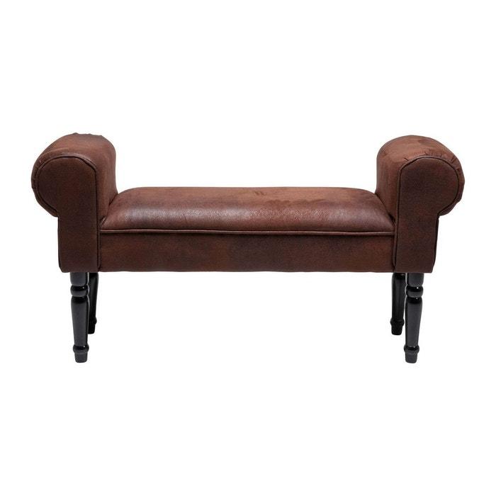 banc wing vintage marron kare design marron kare design la redoute. Black Bedroom Furniture Sets. Home Design Ideas