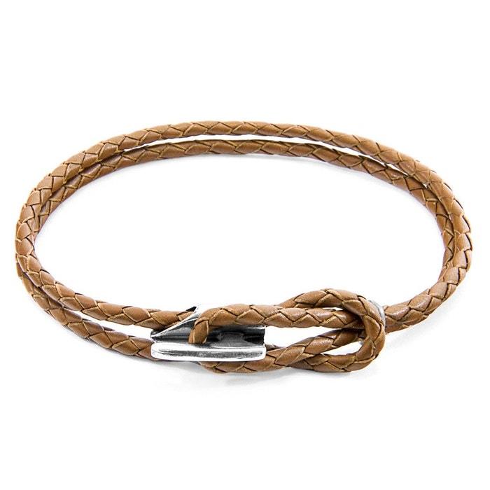 Bracelet padstow argent et cuir tressé Anchor & Crew | La Redoute Prix Pas Cher En Ligne Choix La Vente En Ligne m5X2ZgCuk