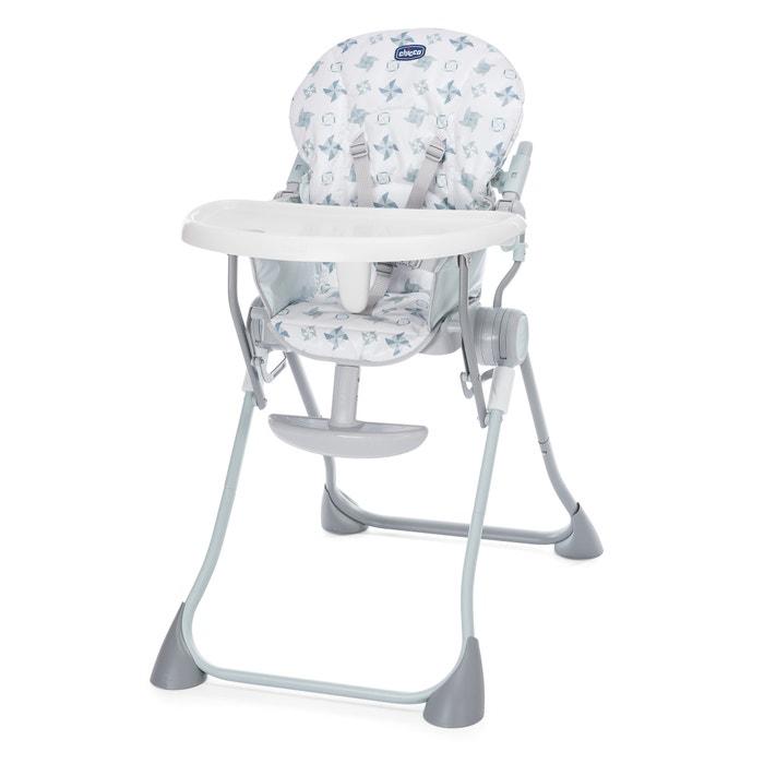 Chaise haute pocket meal chicco gris clair la redoute for Chaise haute bebe la redoute