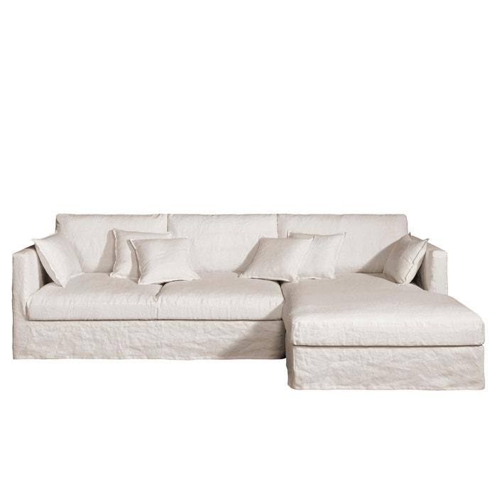 canap d angle fixe n o kinkajou lin froiss am pm la redoute. Black Bedroom Furniture Sets. Home Design Ideas