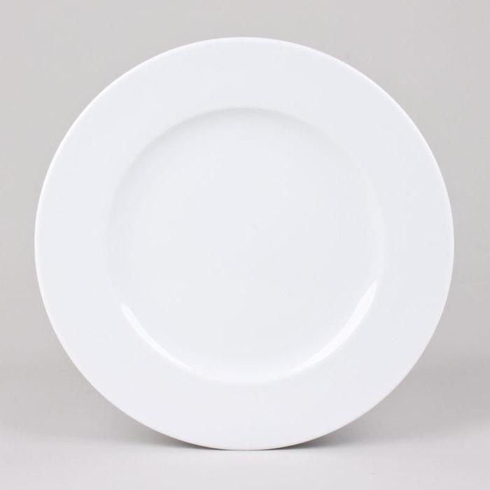 assiette plate 27cm chamonix lot de 6 blanc table passion la redoute. Black Bedroom Furniture Sets. Home Design Ideas