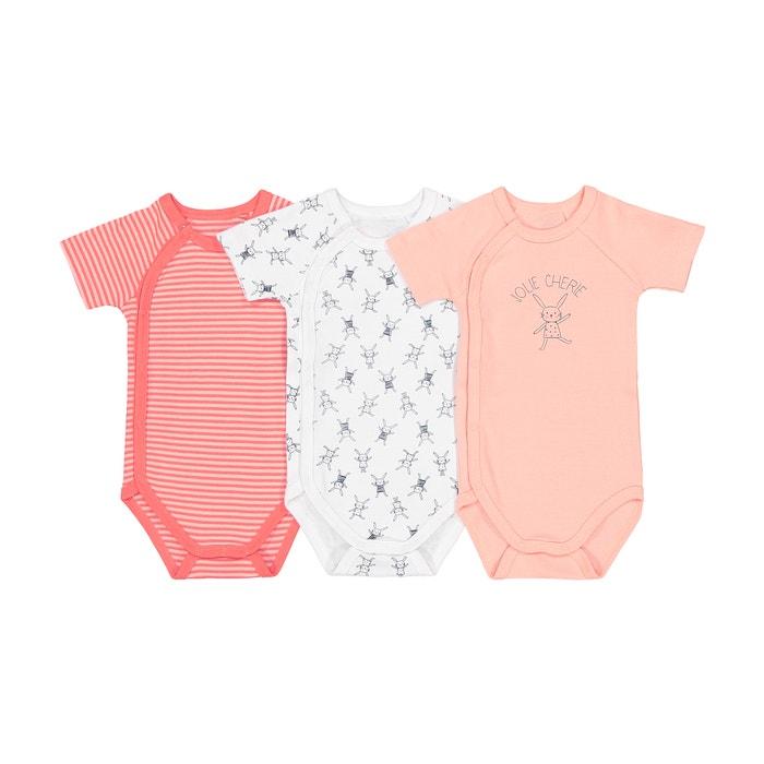 Confezione da 3 body nascita prematuro 2 anni Oeko Tex  La Redoute Collections image 0