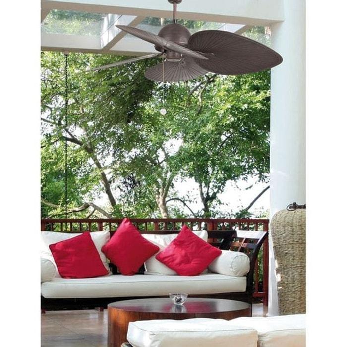 Ventilateur de Plafond Faro Cuba 132cm Brun Wengé 33352