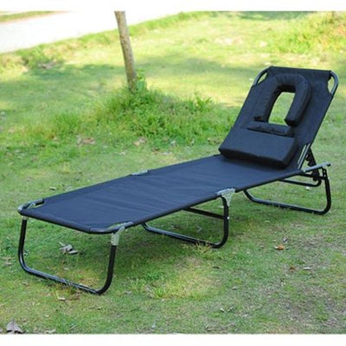bain de soleil inclinable pliable noir noir homcom la. Black Bedroom Furniture Sets. Home Design Ideas