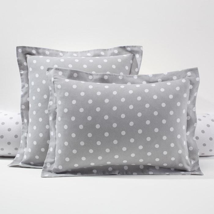 taie d 39 oreiller flanelle imprim pois clarisse la redoute. Black Bedroom Furniture Sets. Home Design Ideas