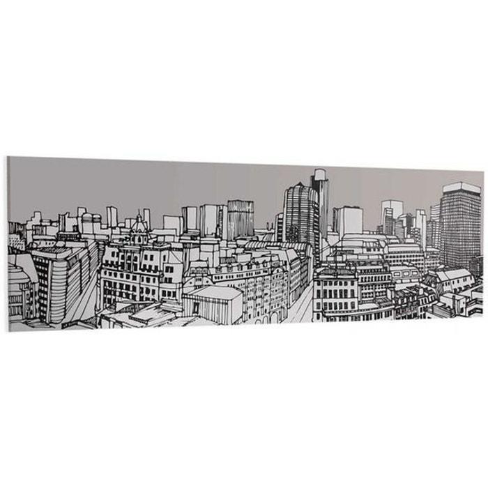 Toile longue croquis ville paris skyline gris declikdeco la redoute - Boutique la redoute paris ...