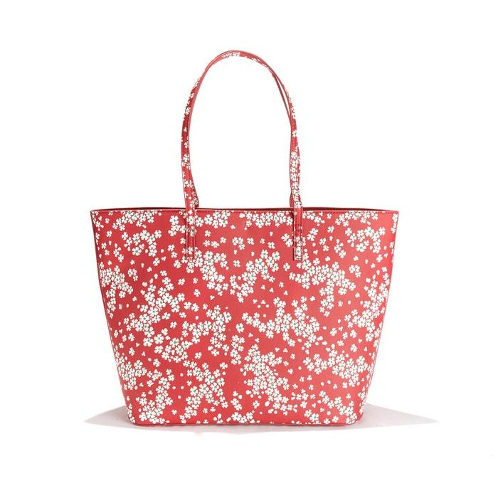 ee5e61b32aa Handtas met bloemen en uitneembare zakje met ritssluiting rood La Redoute  Collections | La Redoute