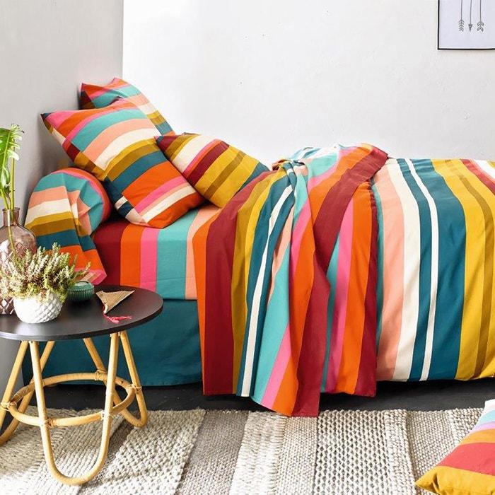 PARAISIO Striped Cotton Duvet Cover  La Redoute Interieurs image 0