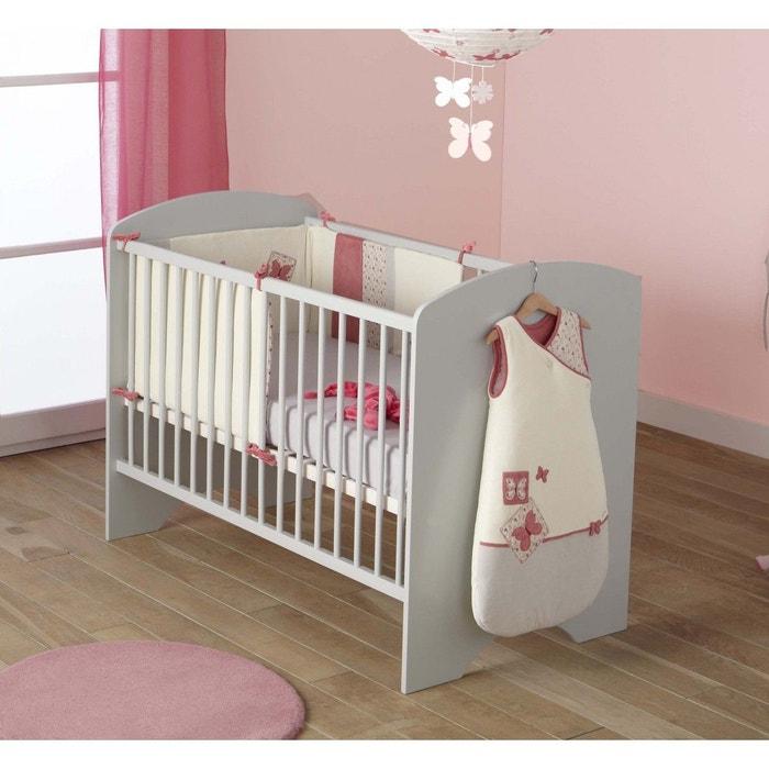 lit b b sweety gris 60x120 domiva gris domiva la redoute. Black Bedroom Furniture Sets. Home Design Ideas