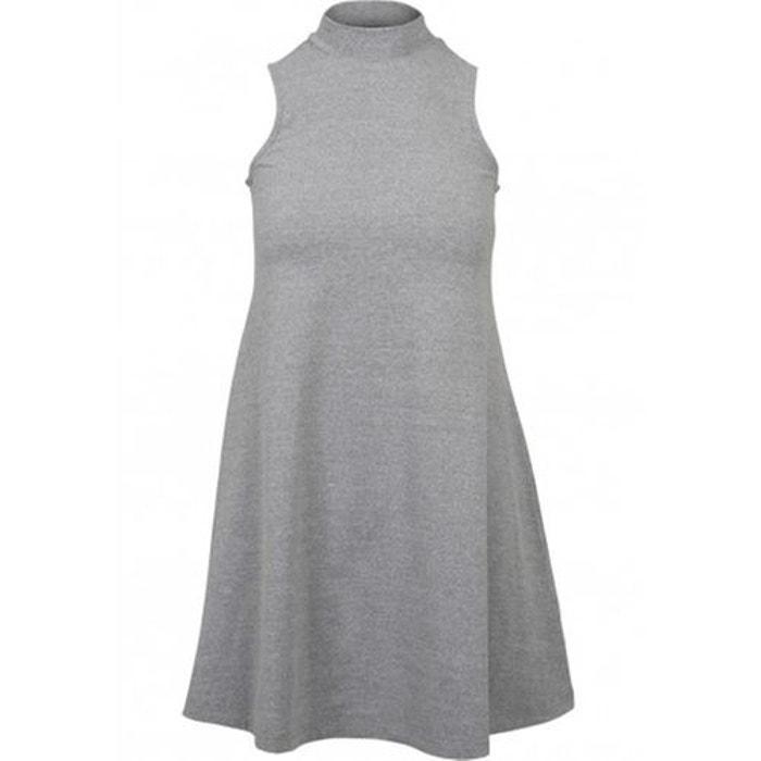 ad5e29ae59d Robe courte sans manches unicolore col roulé gris Urban Classics ...