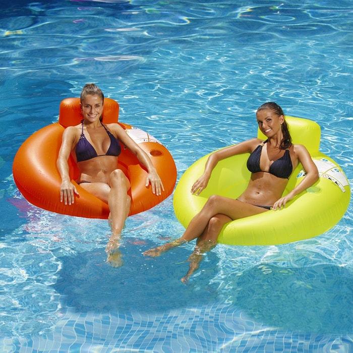 Fauteuil gonflable pour piscine avec porte gobelet kerlis for Accessoire pour piscine