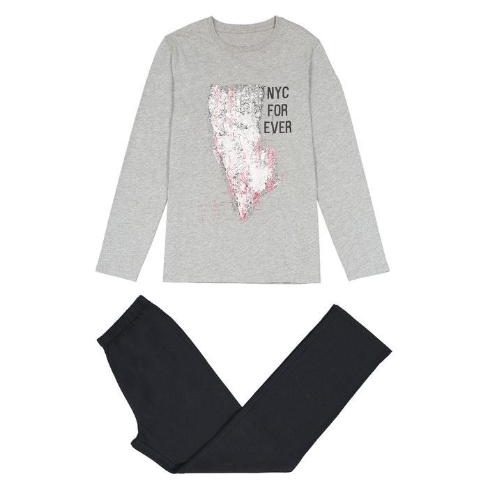 """Пижама из хлопка с принтом """"New-York"""" 10 - 16 лет  La Redoute Collections image 0"""
