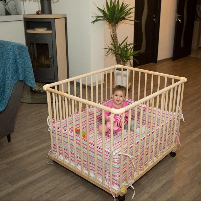 parc rectangulaire tour de parc blanc rose rose bambino world la redoute. Black Bedroom Furniture Sets. Home Design Ideas