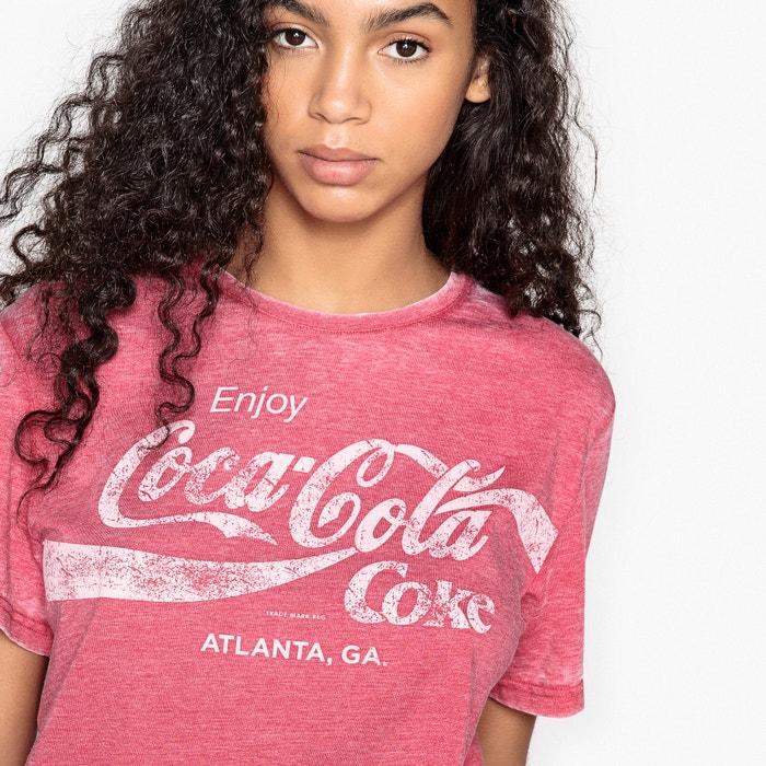 manga corta cuello COCA Camiseta COLA estampada redondo qFXTz6Pw
