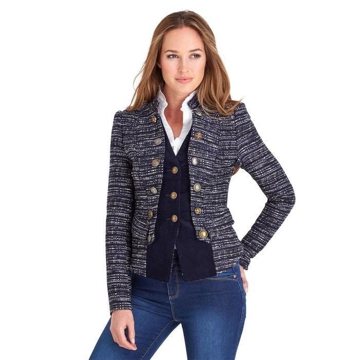 veste tweed ajust e 2 e n 1 style militaire avec faux gilet pour femme marine joe browns la. Black Bedroom Furniture Sets. Home Design Ideas