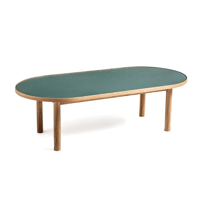 Evergreen Oak Glass Coffee Table Green Eucalyptus La Redoute Interieurs La Redoute