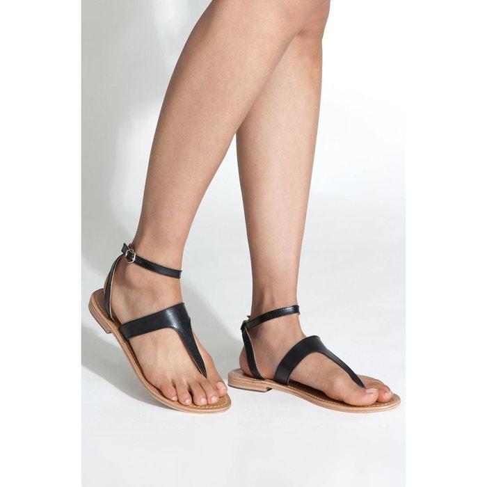 Sandales brie noir Bons Baisers De Paname Style De Mode De Prix Pas Cher 4rwME4G