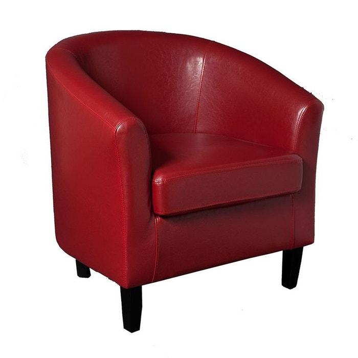 fauteuil cabriolet british rouge rouge pier import la redoute. Black Bedroom Furniture Sets. Home Design Ideas