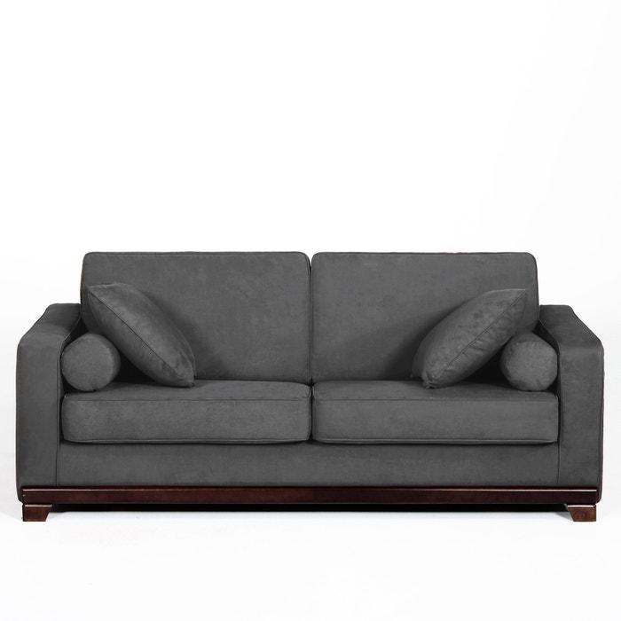 afbeelding 2- of 3-zit canapé, vast, uitstekend comfort, microvezel, Edwin La Redoute Interieurs
