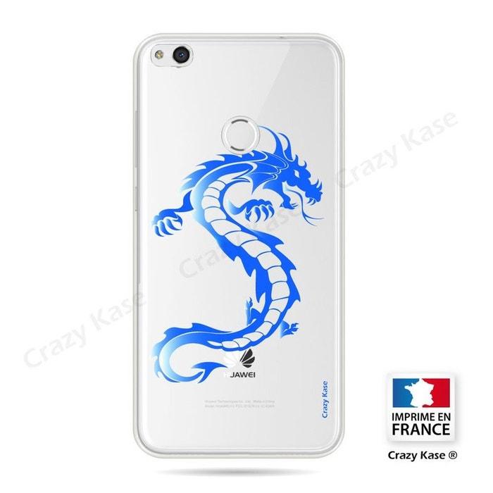 Coque pour Huawei P8 Lite 2017 souple Dragon bleu