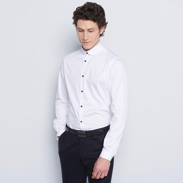 chemise homme ville unie blanc devred la redoute. Black Bedroom Furniture Sets. Home Design Ideas