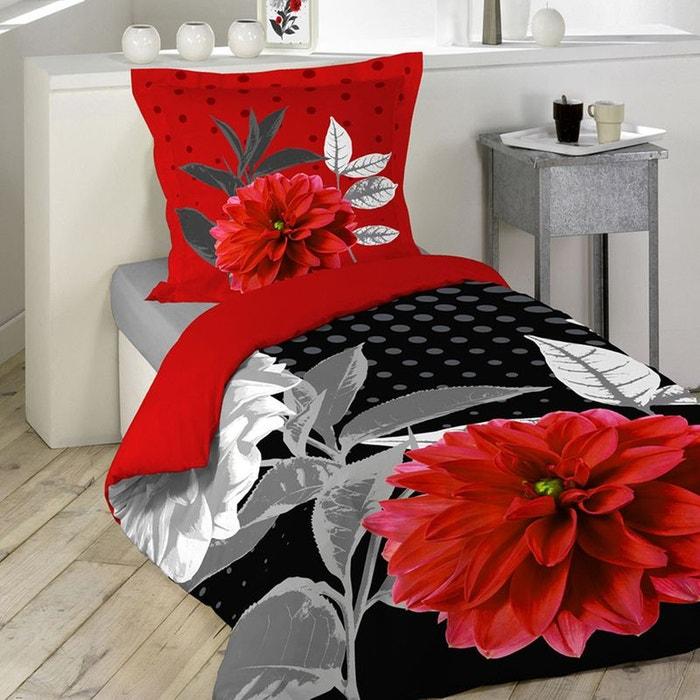parure de lit impression grosses fleurs sans home maison la redoute. Black Bedroom Furniture Sets. Home Design Ideas