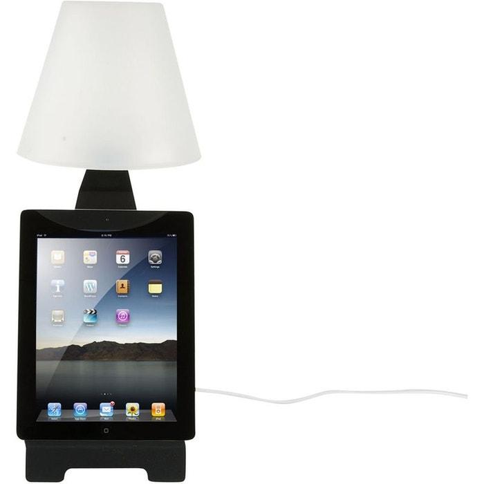 lampe poser pour tablette tactile en m tal noir 17x47. Black Bedroom Furniture Sets. Home Design Ideas