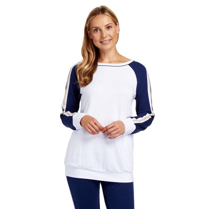 7d19357995f50 Haut de pyjama en microfibre blanc Rosch | La Redoute