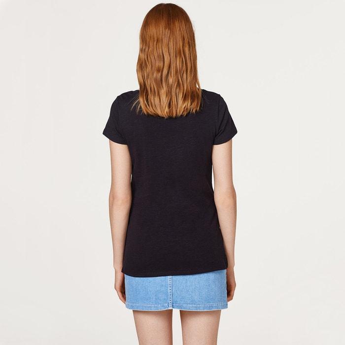 ESPRIT Camiseta redondo manga estampado de y corta con delante cuello rrqOdafw