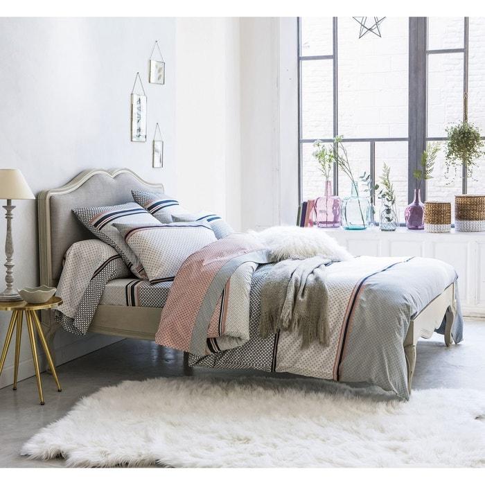 housse de couette coton nayma gris rose poudr e la redoute interieurs la redoute. Black Bedroom Furniture Sets. Home Design Ideas
