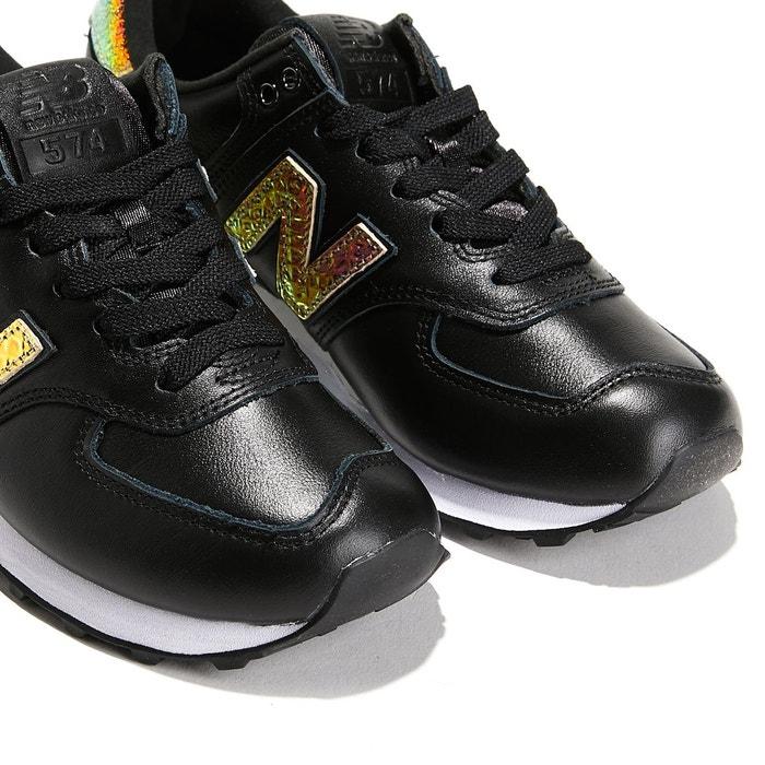 Baskets en cuir modèle 574 noir New Balance
